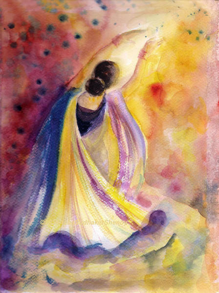 Painting - Heavenly Dancer 2 by Asha Sudhaker Shenoy