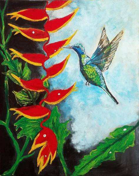 Heliconia Wall Art - Painting - Heavenly Heliconia by Deepa Sahoo