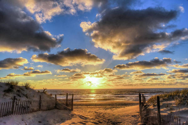 Down The Shore Photograph - Heavenly Skies At The Jersey Shore by Bob Cuthbert