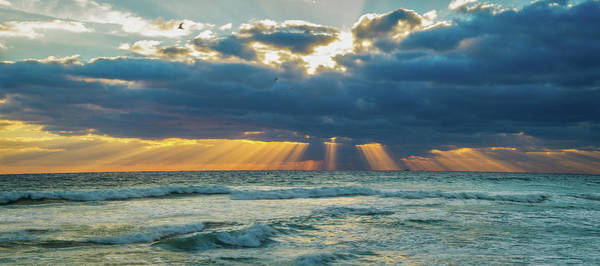 Photograph - Heavenly Sunrise Panorama At Riviera Beach  by Lynn Bauer