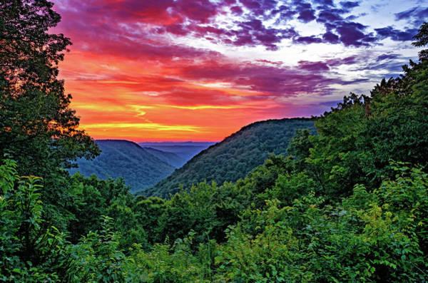 Babcock Photograph - Heaven's Gate - West Virginia - Paint by Steve Harrington