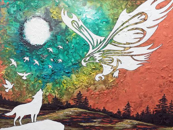Dope Painting - Heaven's Sorrow by Amanda Schambon