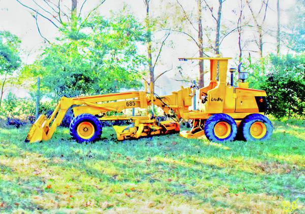 Photograph - Heavy Equipment Grader by Gina O'Brien