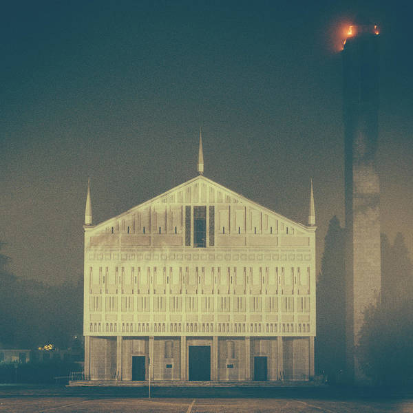 Photograph - Heavy Fog In Front Of A Modern Church by Alexandre Rotenberg