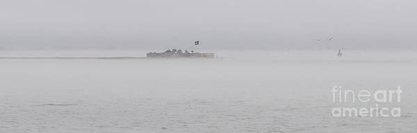Photograph - Heavy Fog Over Castle Pinckney by Dale Powell