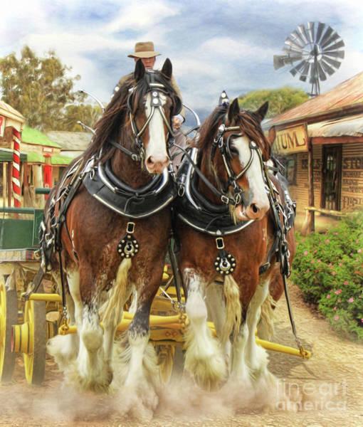 Wall Art - Digital Art - Heavy Horses by Trudi Simmonds