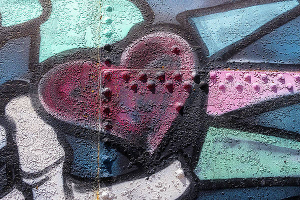 Wall Art - Mixed Media - Heavy Metal Love by Carol Leigh