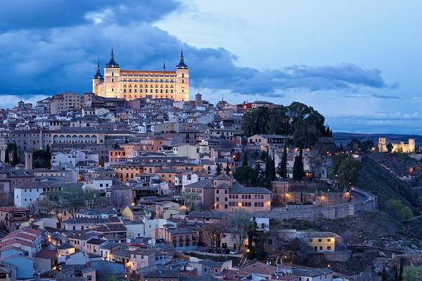 Photograph - Heavy Skies Above The Alcazar Of Toledo by Stephen Taylor