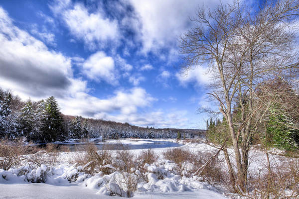 Photograph - Heavy Snow At The Green Bridge by David Patterson