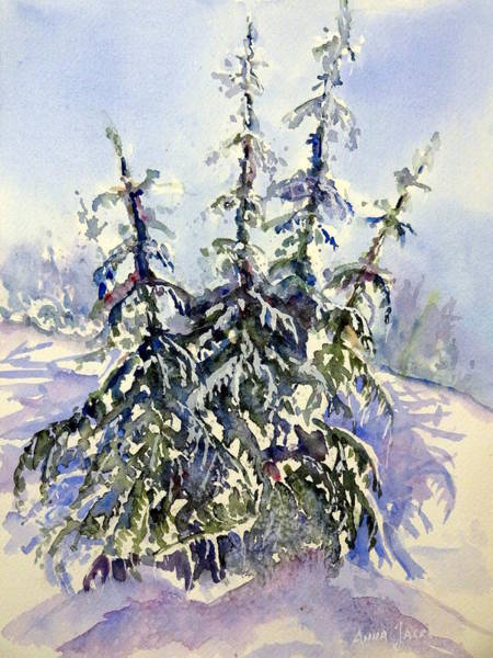 Painting - Heavy Snow In The Cascades by Anna Jacke