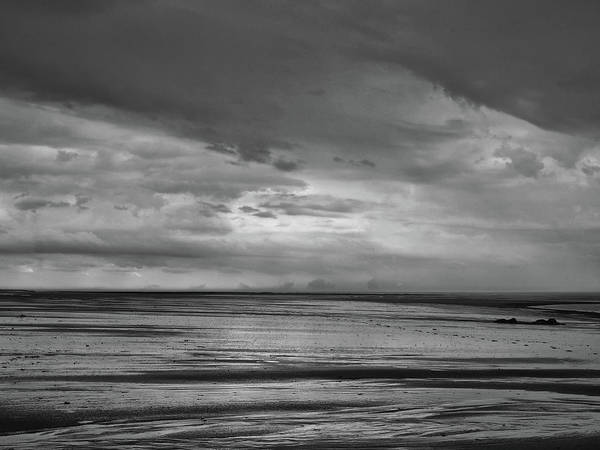 Northumbria Photograph - Heavy Weather 2 - Monochrome by Philip Openshaw