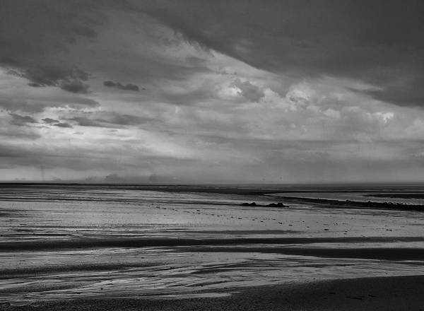 Northumbria Photograph - Heavy Weather - Monochrome by Philip Openshaw