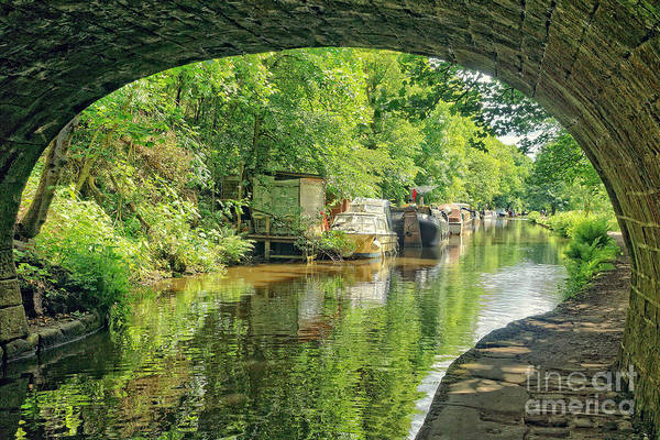 Photograph - Hebden Bridge Towpath by David Birchall