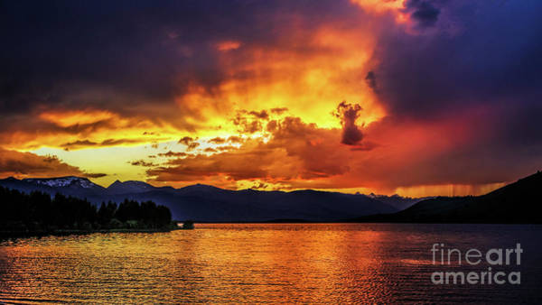 Art Print featuring the photograph Hebgen Lake Sunset by Jemmy Archer