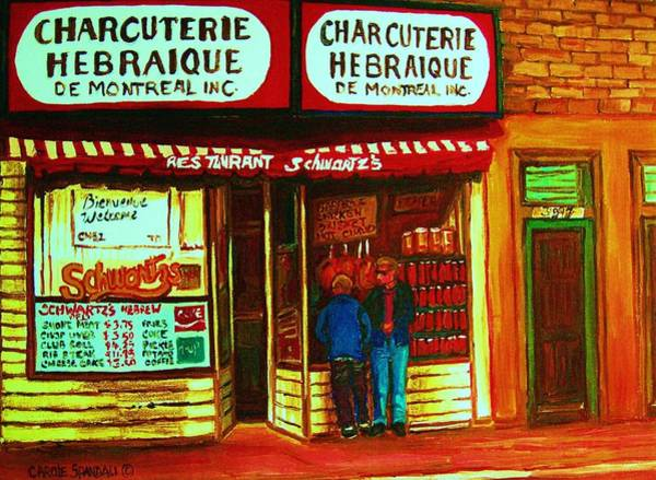 Painting - Hebrew Delicatessen by Carole Spandau