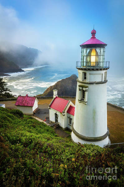 Wall Art - Photograph - Heceta Head Fog by Inge Johnsson