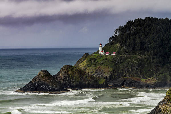 Promontory Point Photograph - Heceta Head Historic Oregon Lighthouse by Teri Virbickis