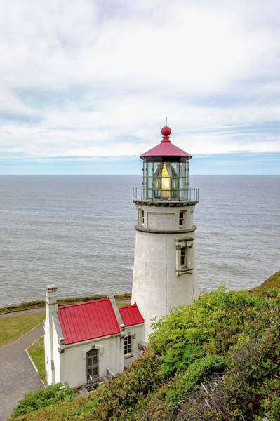 Photograph - Heceta Head Light by M C Hood