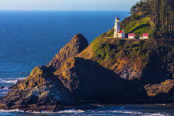 Fresnel Lens Wall Art - Photograph - Heceta Head Lighthouse by Garry Gay