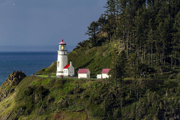 Promontory Point Photograph - Heceta Head Lighthouse by Teri Virbickis