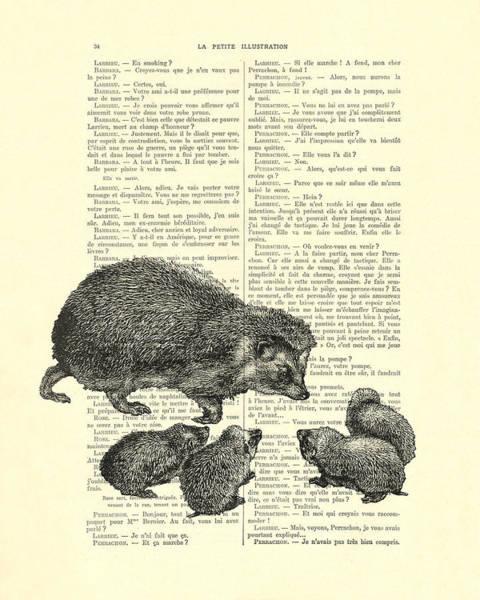 Cute Digital Art - Hedgehog Family by Madame Memento