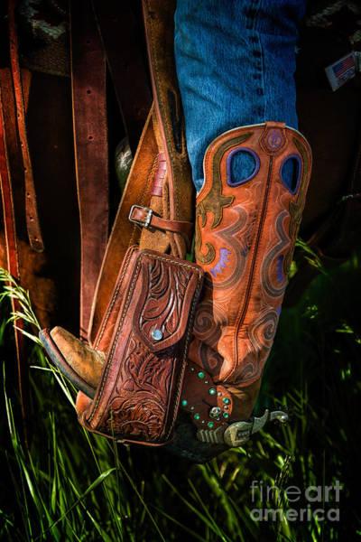 Photograph - Heels Down by Jon Burch Photography