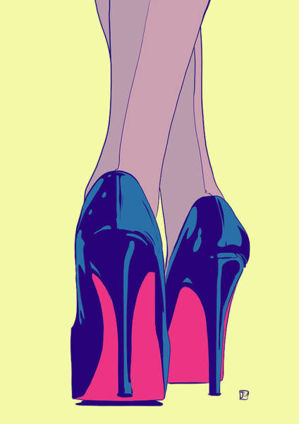 High Heels Wall Art - Drawing - Heels by Giuseppe Cristiano
