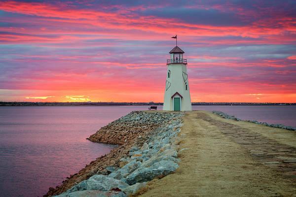 Okc Photograph - Hefner Sunset IIi by Ricky Barnard