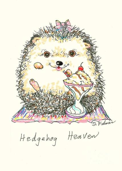 Mixed Media - Hedgehog Heaven by Denise F Fulmer