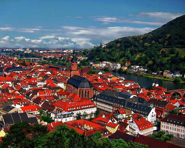 Photograph - Heidelberg Panorama by Anthony Dezenzio