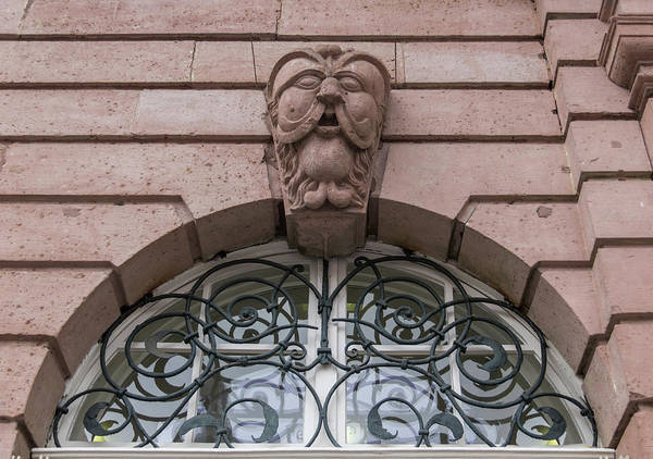 Wall Art - Photograph - Heidelberg Rathaus Arched Window by Teresa Mucha