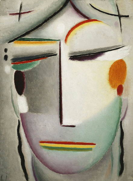 Indian God Painting - Heilandsgesicht Remote King  by Alexei Jawlensky