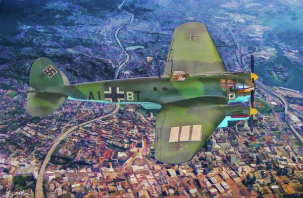 Wall Art - Digital Art - Heinkel He 111in Oil by Tommy Anderson