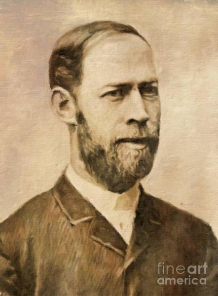 Poetry Painting - Heinrich Hertz, Physicist By Mary Bassett by Mary Bassett