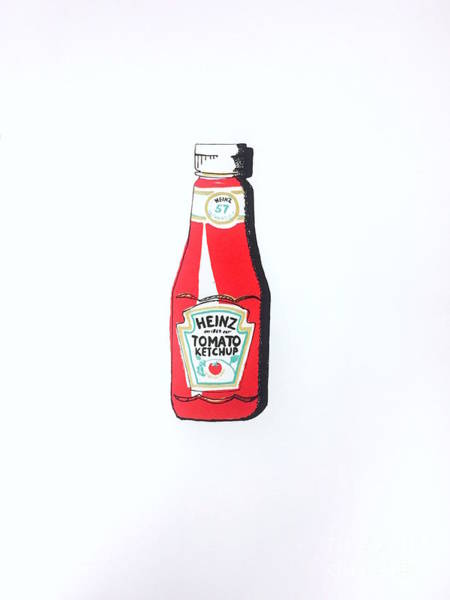 Catsup Painting - Heinz Ketchup by Rono Stinnett