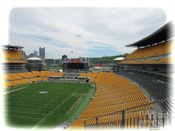 Heinz Stadium With Pittsburgh Skyline Art Print