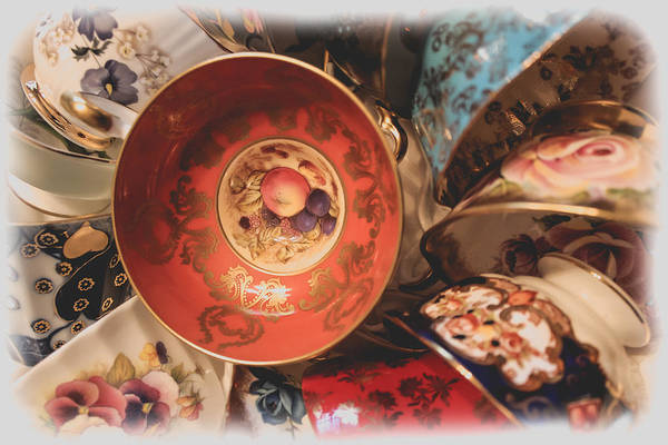 Wall Art - Photograph - Heirloom Tea Cups by Colleen Kammerer