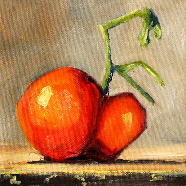 Wall Art - Painting - Heirloom Tomato by Nancy Merkle