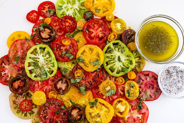 Photograph - Heirloom Tomato Slices by Teri Virbickis