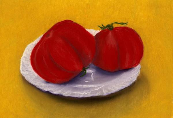 Drawing - Heirloom Tomatoes by Anastasiya Malakhova