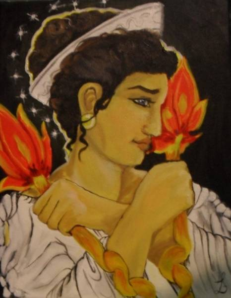 Samantha Painting - Hekate The Torchbearer by Samantha Sanders