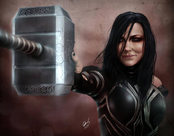 Painting - Hela by Pete Tapang