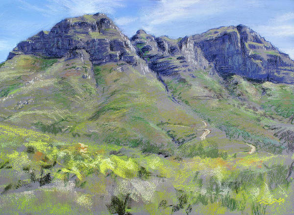 Pastel - Helderberg Plein Air by Christopher Reid