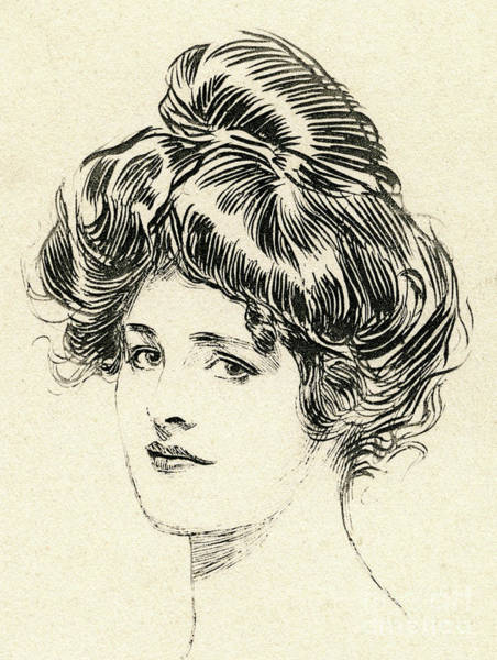 Attractive Drawing - Helen, A Gibson Girl by Charles Dana Gibson
