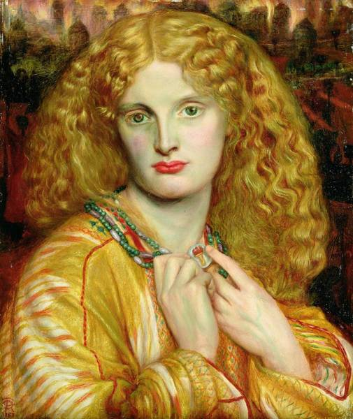 Pre-raphaelite Brotherhood Painting - Helen Of Troy by Dante Charles Gabriel Rossetti