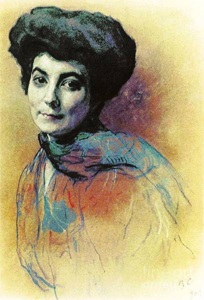 Russian Impressionism Wall Art - Painting - Helena Roerich by Pg Reproductions