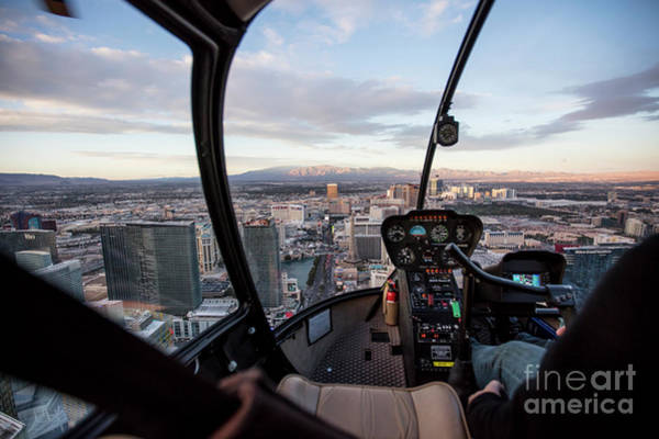 Wall Art - Photograph - Helicopter Flight Over Las Vegas, Nevada by PhotoStock-Israel