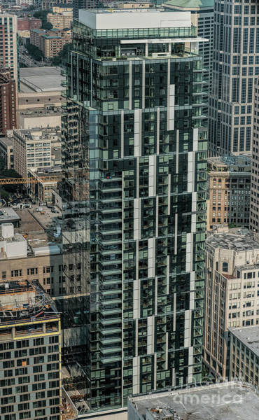 David Weber Photograph - Helios Apartments Building Aerial  by David Oppenheimer