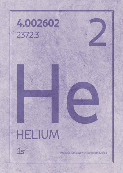Elements Mixed Media - Helium Element Symbol Periodic Table Series 002 by Design Turnpike