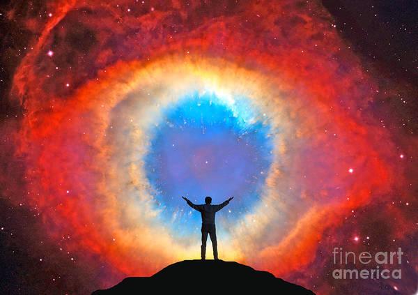 Photograph - Helix Nebula by Larry Landolfi